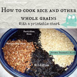 How to cook rice and other whole grains