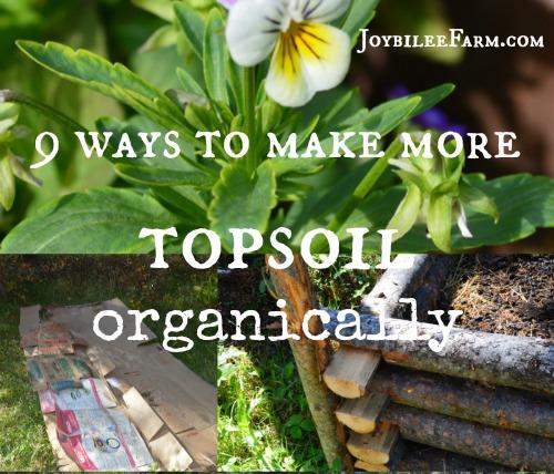 9 Ways To Make More Topsoil Organically Joybilee Farm Diy Herbs Gardening