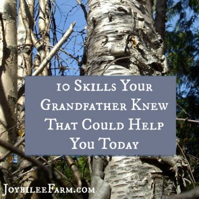 10 Skills Your Grandfather Knew That Could Help You Today