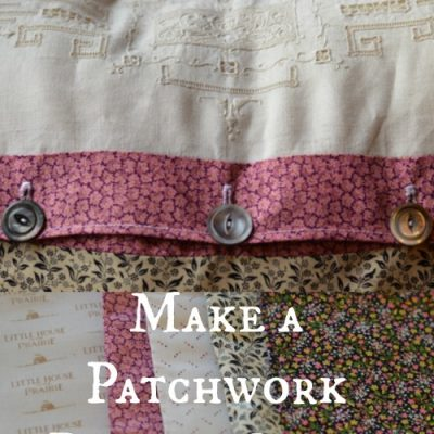 Using Vintage Linen to Make a Patchwork Pillow Cover (no pattern needed)