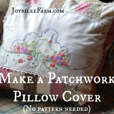 Make a Patchwork Pillow Cover with Little House on the Prairie® Fabrics (no pattern needed)