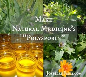 "Make Natural Medicine's ""Polysporin"""