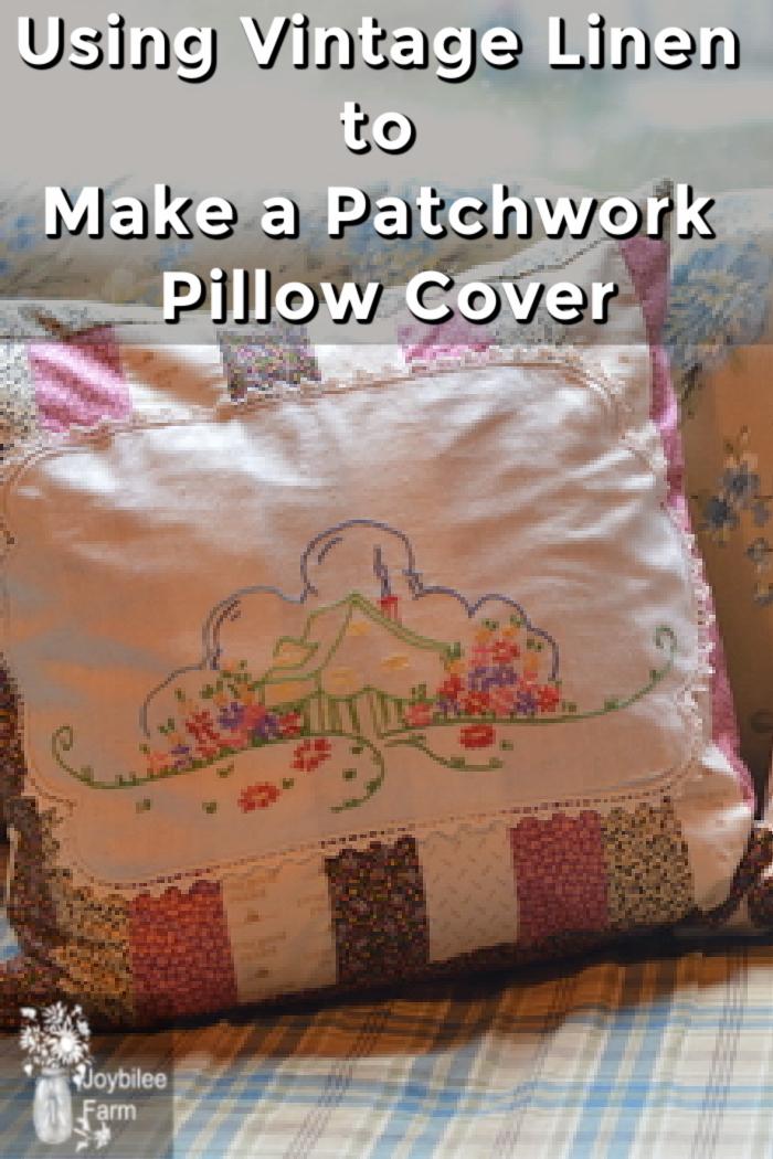 a patchwork pillow