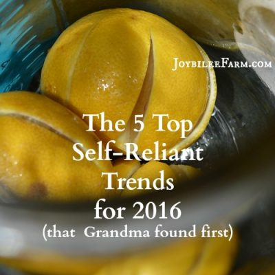 The 5 Top Self-Reliant Trends that Grandma found first