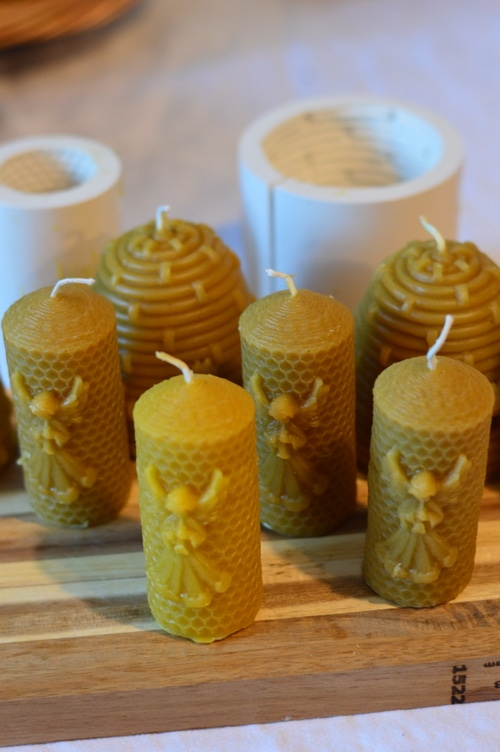 molded candles, and candle molds