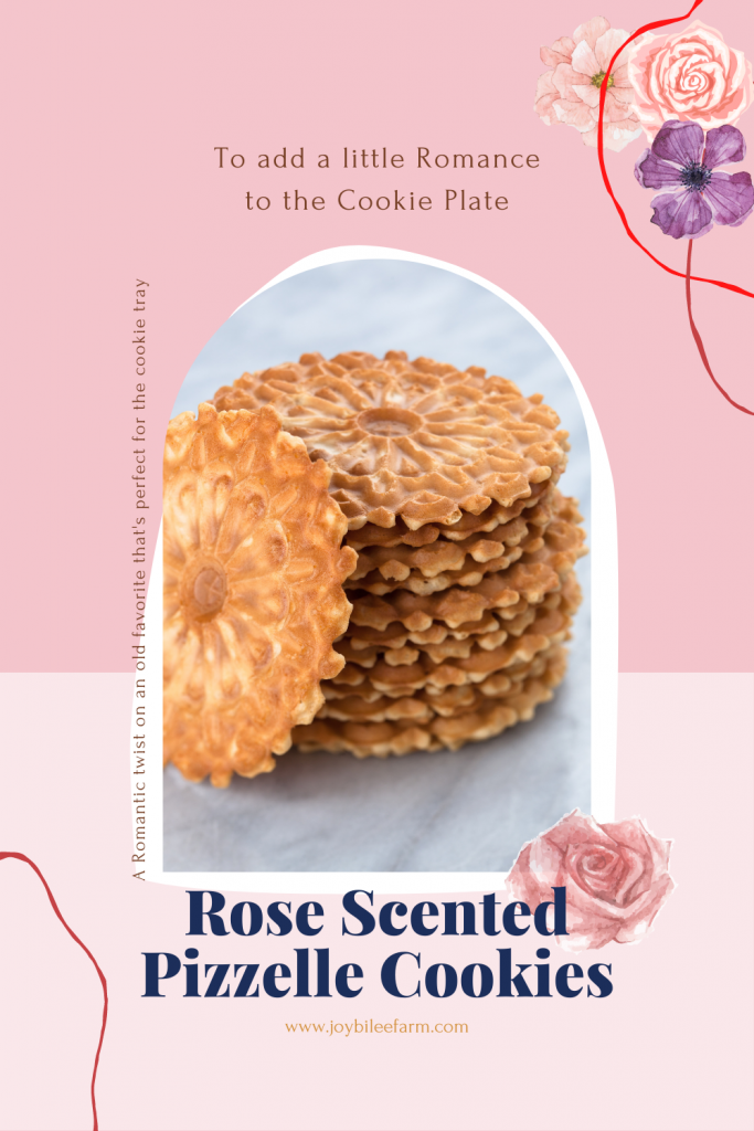 Pizzelle cookies and roses