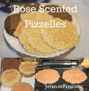 Traditional Holiday Cookies – Rose Scented Pizzelles