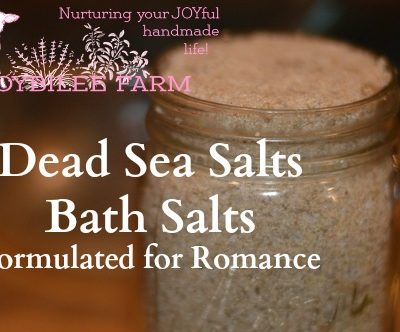 Dead Sea Salts Bath Salts Formulated for Romance