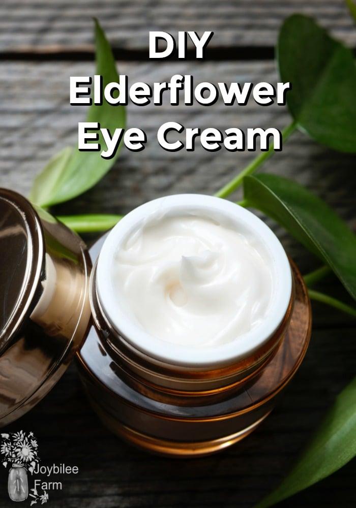 Jar of white eye cream