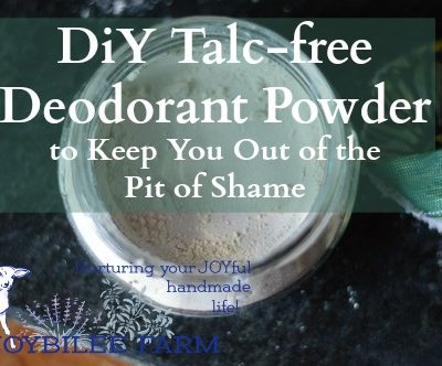 Homemade Deodorant Powder with Herbs and Essential Oils