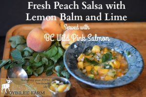 Fresh Peach Salsa with Lemon Balm and Lime (Served with BC Wild Pink Salmon)