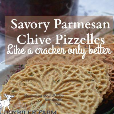 Savory Parmesan Chive Pizzelles