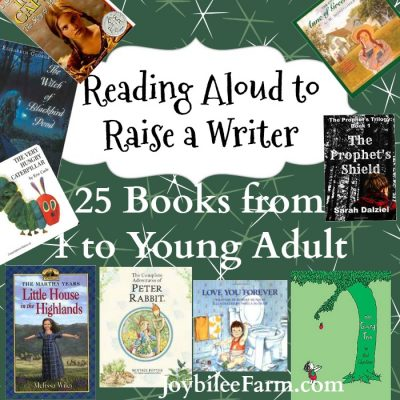 25 Books from 1 to Young Adult — Reading Aloud to Raise a Writer: