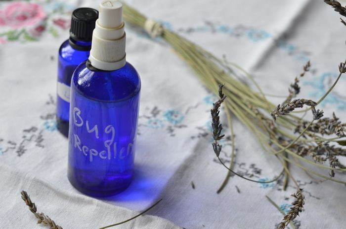 This bug repellent spray protects against biting flies, mosquitoes, ticks, midges, and black flies. However, note that each essential oil chosen for this blend is not 100% effective for all insect pests. It's the synergistic blend that covers you against blood sucking insects.