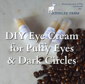 DIY Eye Cream for Puffy eyes and Dark circles