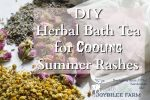 DIY Herbal Bath Tea for Cooling Summer Rashes