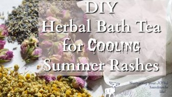 DIY Herbal Bath Tea for Cooling Summer Rashes