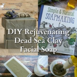 DIY Rejuvenating Dead Sea Clay Facial Soap