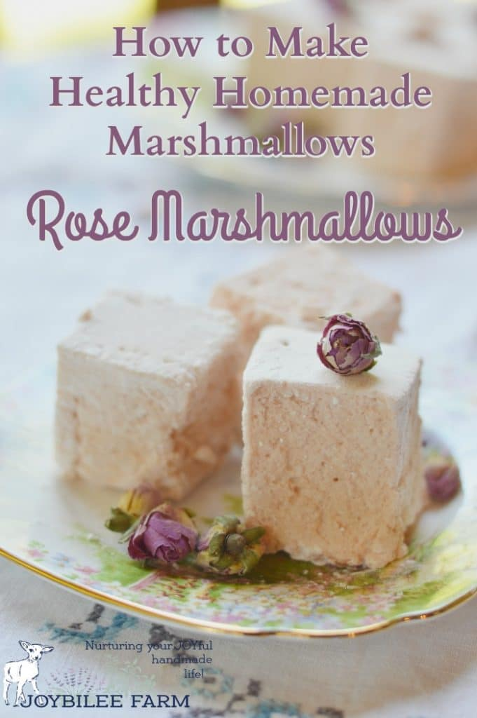These healthy marshmallows are made with roses. They are a sweet, light finish to a meal, that also helps with digestion, reduces inflammation, and lifts the mood.