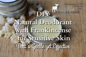 DIY Natural Deodorant with Frankincense for Sensitive Skin