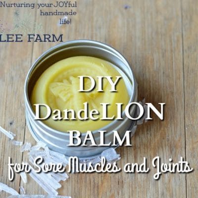 DIY DandeLion Balm for Sore Muscles and Joints