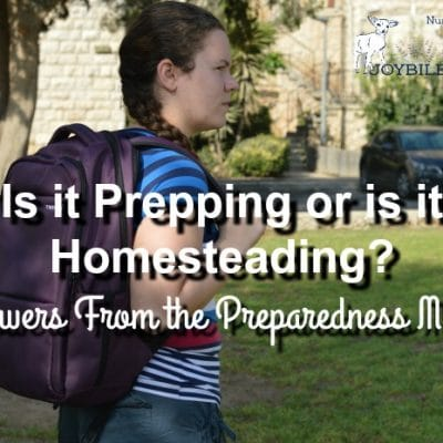 Is it Prepping or is it Homesteading? Answers From the Preparedness Mama