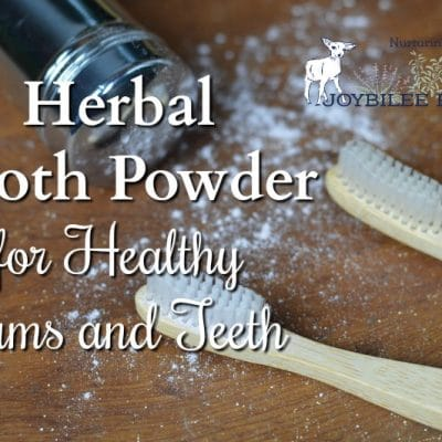 Herbal Tooth Powder for Healthy Gums and Teeth