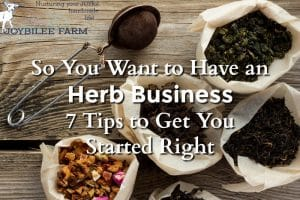 When you are ready to start your herb business keep these 7 tips in mind, to ensure your success.