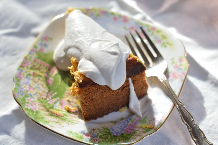 Gluten-free pumpkin cheesecake that can be made ahead for holiday dinners.