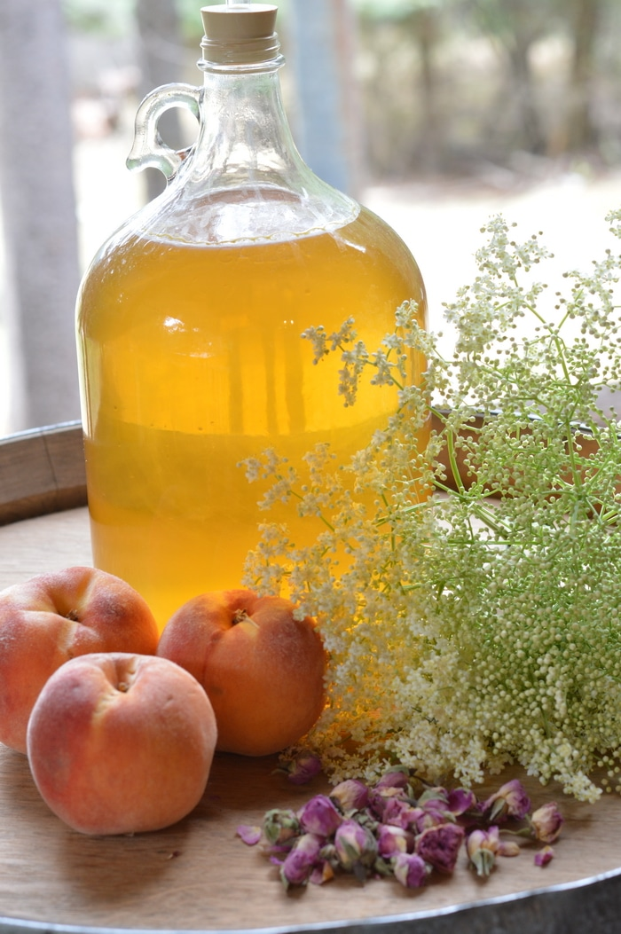Summer Honey Mead is an easy to make herbal beverage that preserves the summer goodness for winter ills. Old timers preserved herbs in many ways to get through the long winter months of ice and snow. Honey mead is a refreshing vehicle for herbs.