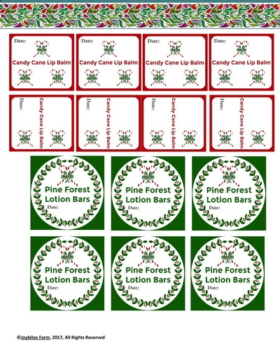 Grab these candy cane lip balm labels in the free download.