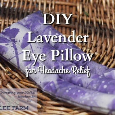 DIY Lavender Eye Pillow for Headache Relief