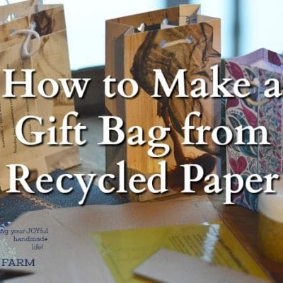 How to Make a Gift Bag from Recycled Paper