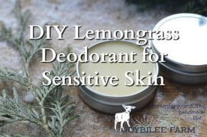 DIY Lemongrass Deodorant for Sensitive Skin