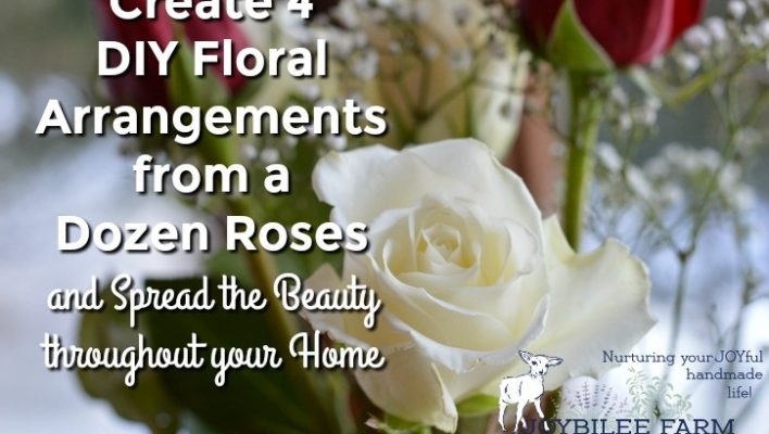 Create 4 DIY Floral Arrangements from a Dozen Roses and Spread the Beauty throughout your Home