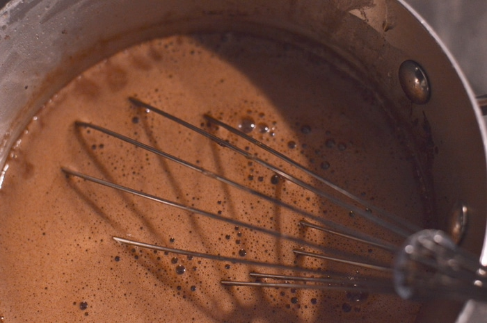chocolate panna cotta whisk