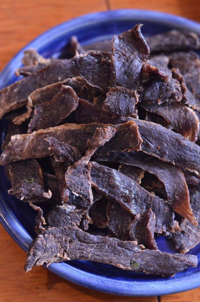 Beef Jerky made in a dehydrator