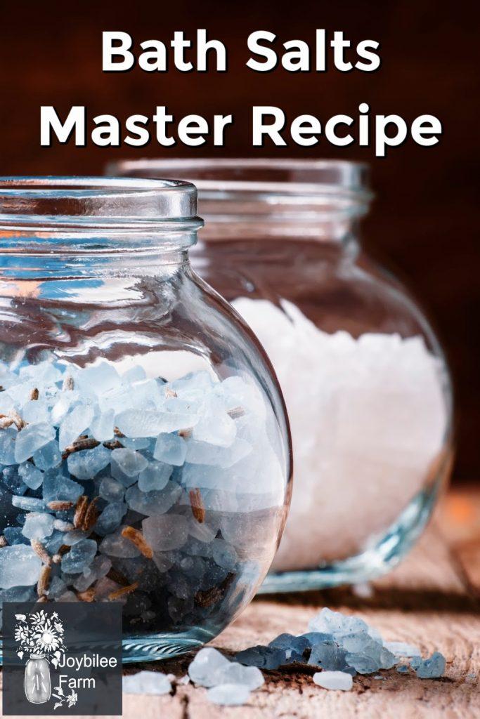 bath salts in small glass jars