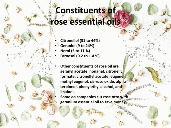List of Constituents of rose essential oils