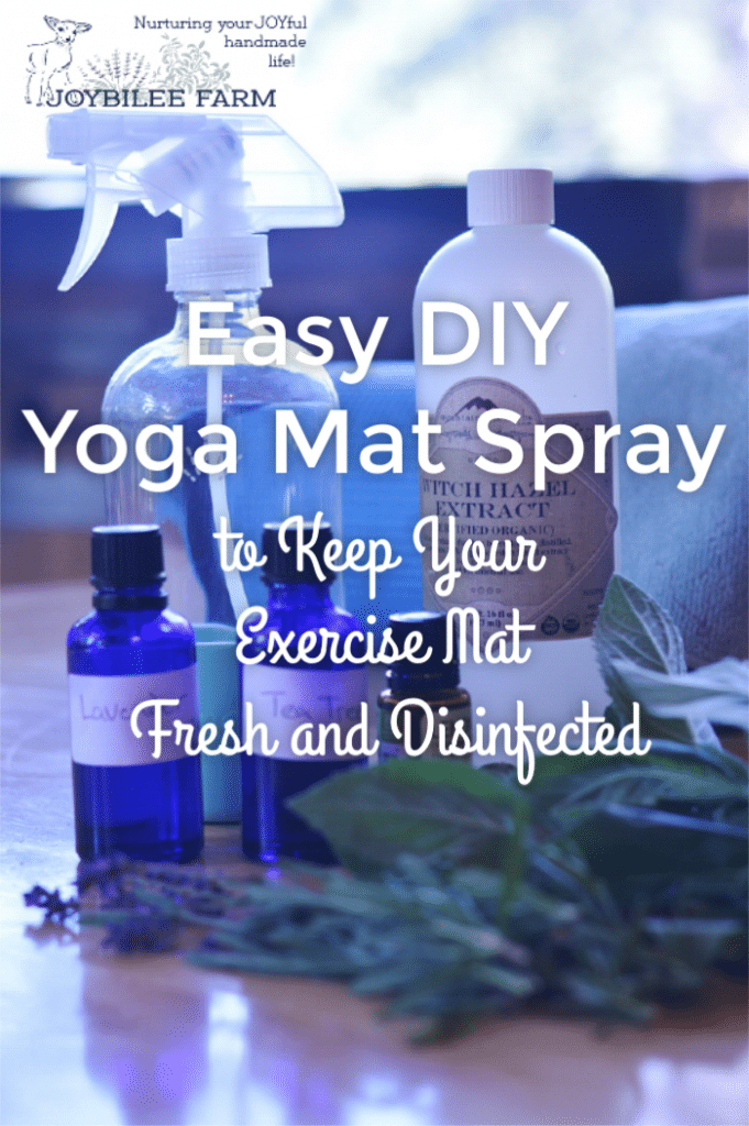 Easy yoga mat spray cleaner