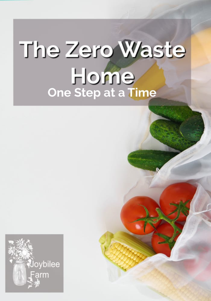 the zero waste home uses cloth bags instead of plastic at the grocery store