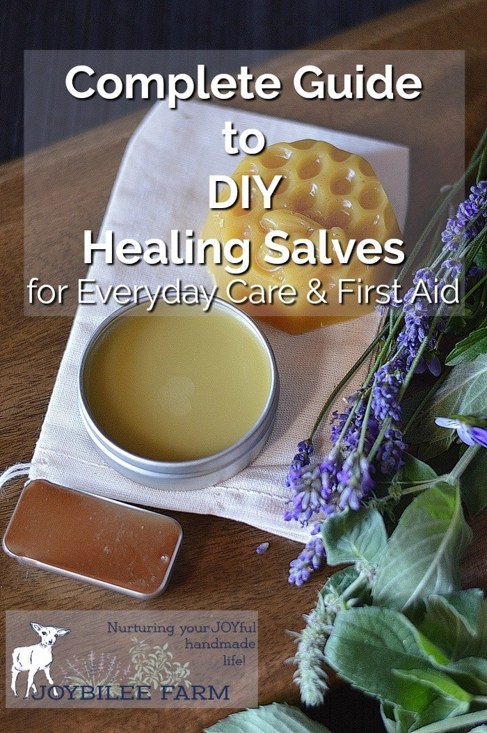 Salves by fresh lavender and other herbs