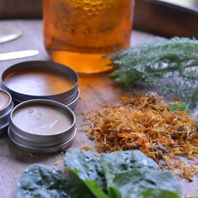 The Easiest Herbal First Aid Salve You Can Make Even if You Live in the City
