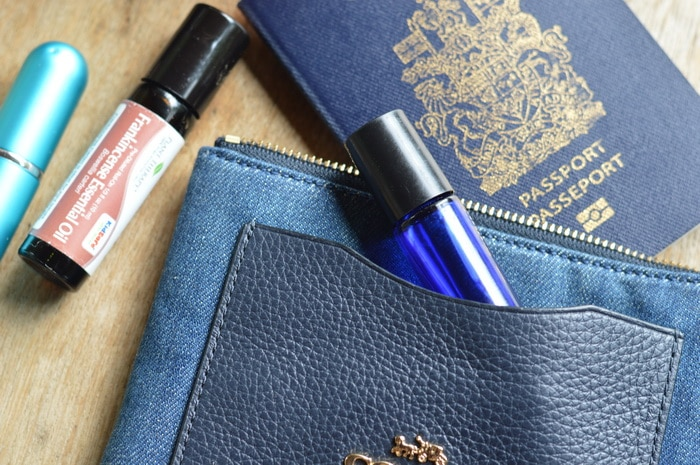 essential oil rollerball and other travel related items