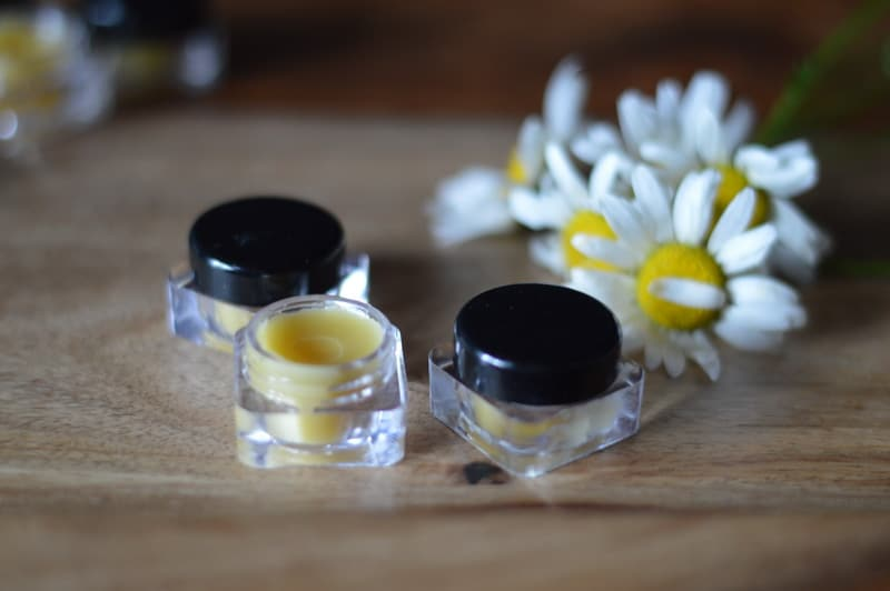 solid perfume in small containers