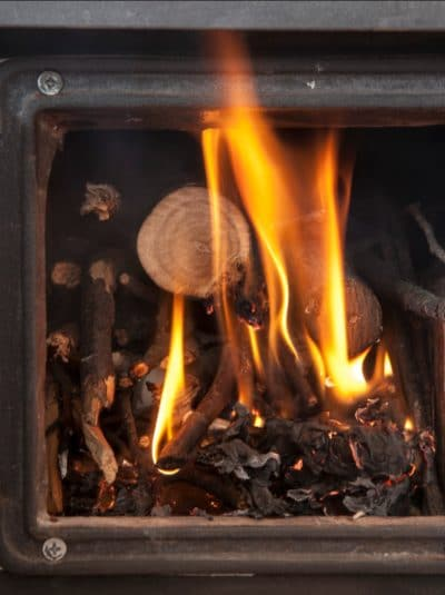 "There were many different ways to light a fire in a wood-stove. Is there a ""right"" way? I'll show you the method that works to keep you from getting burned.  I like the top-down fire. It protects your knuckles from getting singed in the cook-stove when the paper flares up."