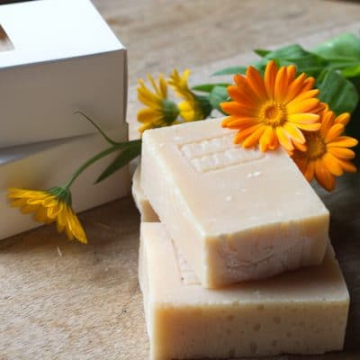 DIY Calendula Soap for Soothing Dry, Rough Skin