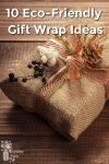 Burlap wrapped gift with fancy embellishments