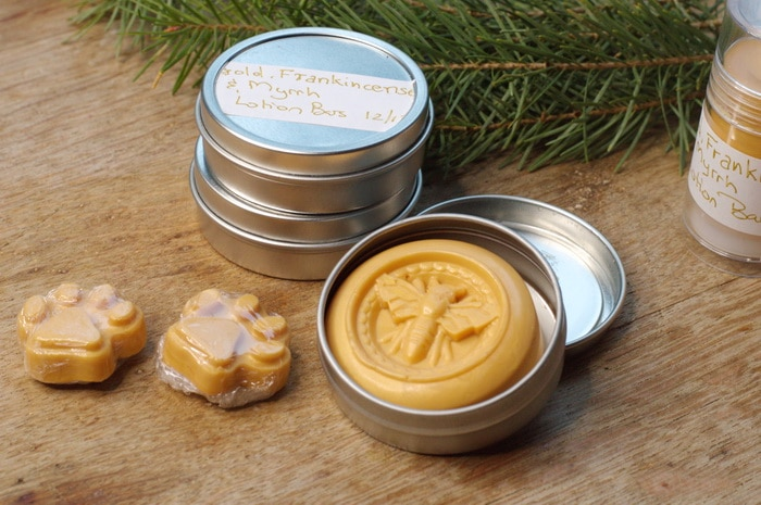 Gold lotion bars