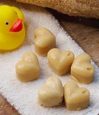 Sugar Scrub Cubes and a rubber duck